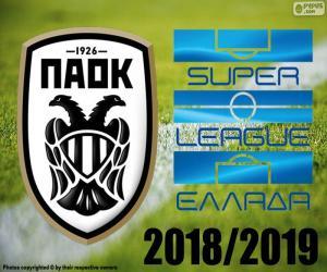 puzzel PAOK Saloniki, kampioen 2018-2019