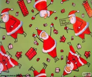 puzzel Papier van Kerstman