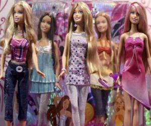 puzzel Parade van Barbies
