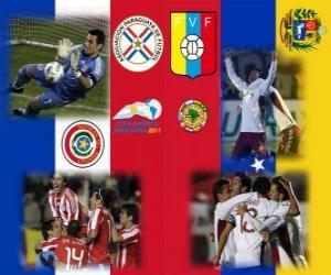 puzzel Paraguay - Venezuela, halve finales, Copa America Argentinië 2011