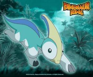 puzzel Parijs, Parapara. Dinosaur Parasaurolophus, eigendom van Zoe van Team-D