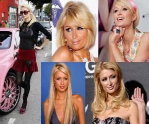 puzzel Paris Hilton is een socialite, auteur, model, actrice, ontwerper en zanger.