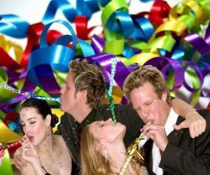 puzzel Partij van het nieuwe jaar.
