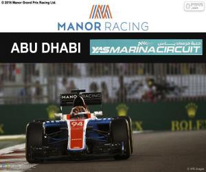 puzzel Pascal Wehrlein, Grand Prix van Abu Dhabi 2016