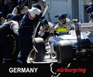 puzzel Pastor Maldonado - Williams - Nürburgring, 2013