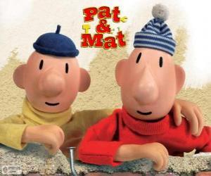 puzzel Pat en Mat, de grappigste klusjesmannen. Buurman en Buurman, De twee stuntels