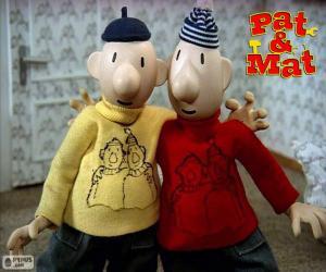 puzzel Pat en Mat, twee vrienden