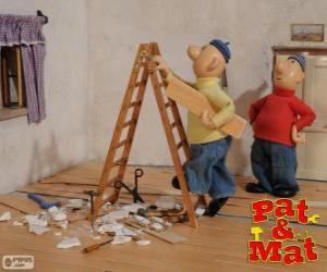 puzzel Pat en Mat werk