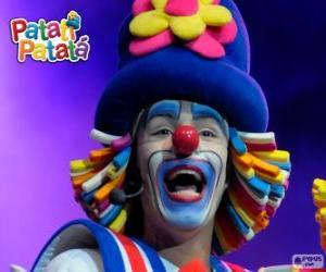 puzzel Patatí, een van de clowns van Patatí Patatá