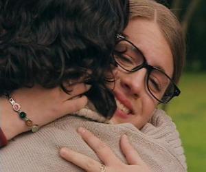 puzzel Patito en Leandro te voldoen, zowel huilen en knuffelen.