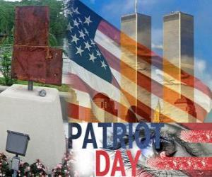 puzzel Patriot Day, 11 september in de Verenigde Staten, ter nagedachtenis van de aanslagen van 11 september 2001
