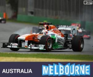 puzzel Paul di Resta - Force India - Melbourne 2013