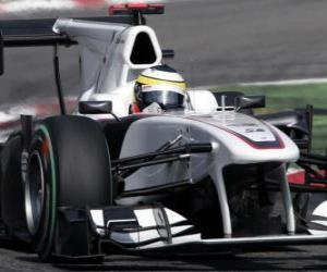 puzzel Pedro de la Rosa - Sauber - Monza 2010