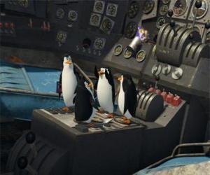 puzzel Penguins gerepareerd een oud neergestort vliegtuig