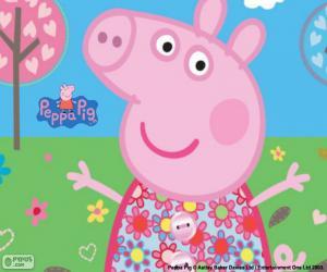 puzzel Peppa Pig bloem jurk
