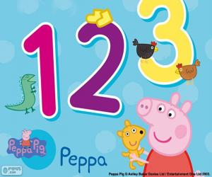 puzzel Peppa Pig en cijfers