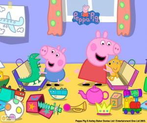 puzzel Peppa Pig en George
