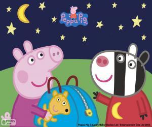 puzzel Peppa pig en Zoe Zebra