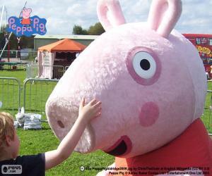 puzzel Peppa Pig met een kind