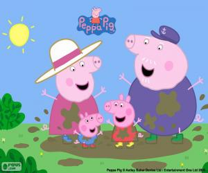 puzzel Peppa Pig met zijn grootouders