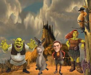 puzzel Personages, in de nieuwste film Shrek Forever After