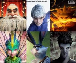 puzzel Personages uit De Vijf Legendes
