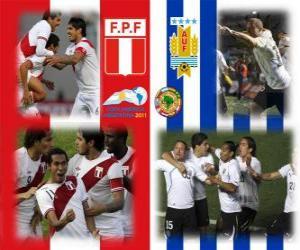 puzzel Peru - Uruguay, halve finales, Copa America Argentinië 2011