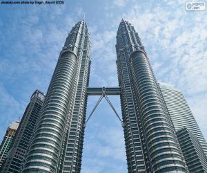 puzzel Petronas Towers, Maleisië