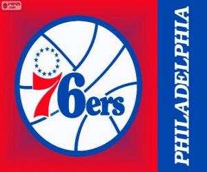 puzzel Philadelphia logo 76ers, Sixers, NBA-team. Atlantic Division, Eastern Conference