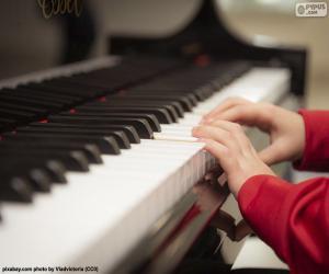 puzzel Piano spelen