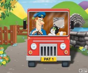puzzel Pieter Post met zijn kat Jess in de distributie van post