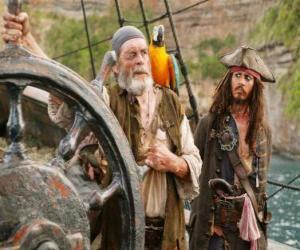 puzzel Piraat aan het roer