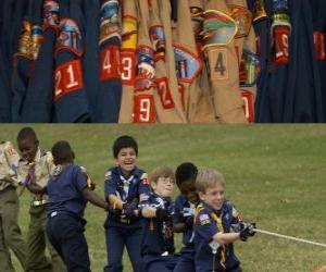 puzzel Plaatselijke scouts en begeleiders