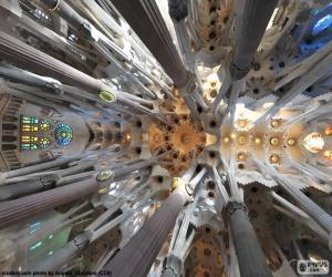 puzzel Plafond, Sagrada Familia, Barcelona