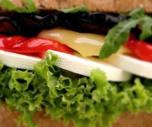 puzzel Plantaardige sandwich