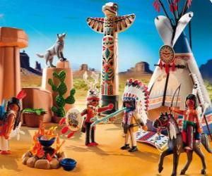puzzel Playmobil Indiase camp