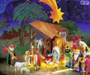 puzzel Playmobil kerststal