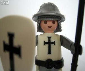 puzzel Playmobil middeleeuwse soldaat