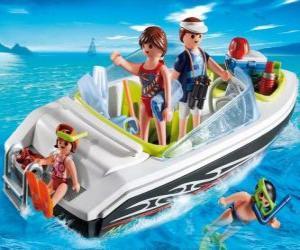 puzzel Playmobil motorboot