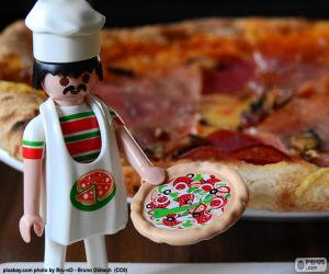 puzzel Playmobil pizza