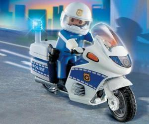 puzzel Playmobil Politie motorfiets