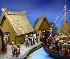 puzzel Playmobil Viking dorp