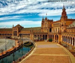 puzzel Plaza van Spanje, Sevilla, Spanje