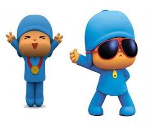 puzzel Pocoyo is een jonge jongen, speels en leuk, die is het ontdekken van de wereld