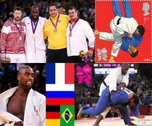 puzzel Podium mannen Judo meer dan 100 kg