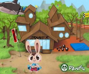 puzzel Pokopet Bugsy, een konijn, een soort van huisdier van Panfu