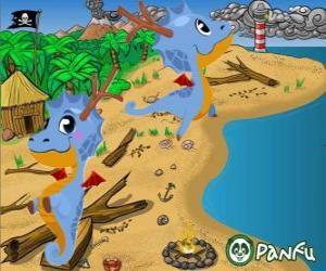 puzzel Pokopet Dragon uit Panfu, een draak