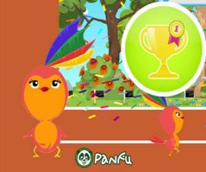 puzzel Pokopet Stella, een vogel als huisdier van Panfu