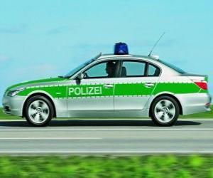 puzzel politie auto - BMW E60 -