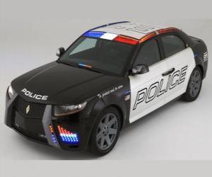 puzzel politie auto
